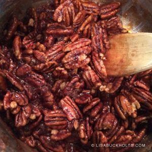 Spiced Glazed Pecans - Pan