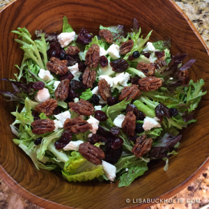 Spiced Pecan Berry Goat Cheese Salad